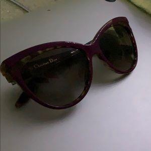 purple and tortoise dior sunglasses